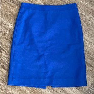 J Crew cobalt blue pencil skirt